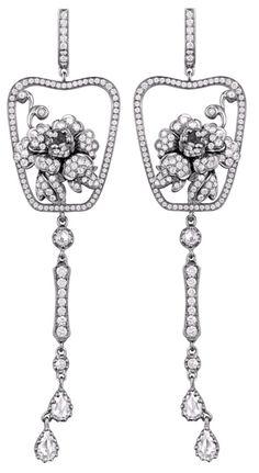 Annoushka Yewn Imperial Fan Earrings. Via Diamonds in the Library. White earings