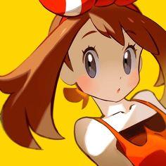 Anime picture with pokemon pokemon oras nintendo haruka (pokemon) tokiya long hair single blush highres brown hair simple background bare shoulders looking away grey eyes :o portrait yellow girl hairband Pokemon Rosa, Pokemon Mew, Lucario Pokemon, Pokemon Fan Art, Cool Pokemon, Pikachu, Pokemon Remake, Pokemon Stuff, Sapphire Pokemon