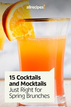 "15 Cocktails and Mocktails Just Right for Spring Brunches | ""Spring brunch season calls for the freshest, brightest cocktails and mocktails to complement all your brunch menus. Here are 15 brunch drinks you can serve with or without alcohol, featuring seasonal flavors like strawberry, rhubarb, grapefruit, and pineapple — and a classic Bloody Mary, of course."" #drinks #drinksrecipes #drinkrecipes Brunch Drinks, Brunch Menu, Party Drinks, Smoothie Popsicles, Smoothies, Punch Recipes, Drink Recipes, Cocktail Recipes, Cocktails"