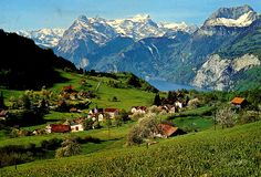 Lake Lucerne - via epic an train-ride through the Alps from Italy