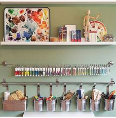 40 Art Room And Craft Room Organization Decor Ideas - artmyideas Art Studio Room, Art Studio Design, Art Studio At Home, Painting Studio, Art Studio Decor, Room Art, Design Design, Art Rooms, Design Studios