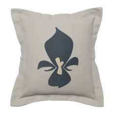 2014 Collection : Midnight Blue / Gold Fleur. A deep midnight twist on Joue Design's design of the classic Fleur-de-Lis on this 100% Cotton Duck luxury throw cushion. Featuring an artisanal screenprint accented by a gold embroider. #luxurycushion #throwpillow www.jouedesign.com