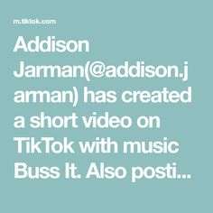 Addison Jarman(@addison.jarman) has created a short video on TikTok with music Buss It. Also posting FREE STUFF you can get on your bday! Check that out too! Ipa, K Pop, Austin Burke, Janet Devlin, Danshi Koukousei No Nichijou, Cup Song, Pinhole Camera, Dream School, Kpop Memes
