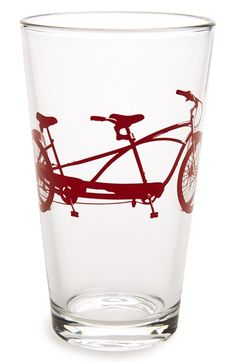 Vital Industries 'Tandem Bike' Pint Glass available at #Nordstrom