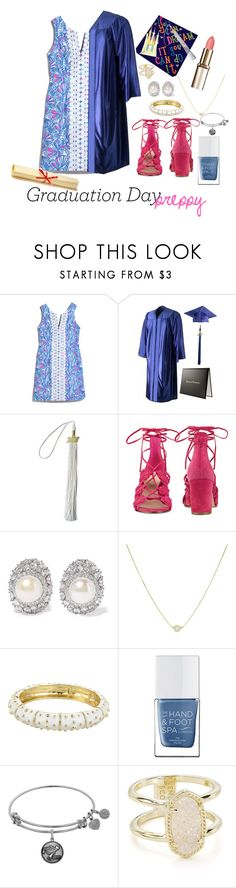"""Preppy Graduation Day"" by grace-buerklin ❤ liked on Polyvore featuring Lilly Pulitzer, Disney, Nine West, Kenneth Jay Lane, The Hand & Foot Spa and Kendra Scott"