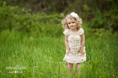 Crema vestido de encaje Petti mameluco de por BabyBloomzBoutique,