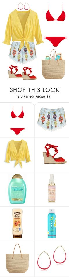 """Untitled #36"" by khalitovagt-1 ❤ liked on Polyvore featuring Melissa Odabash, Lipsy, Organix, COOLA Suncare and Target"