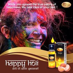 Use EYOVA on hair before playing Holi to save hair from harsh Holi colours