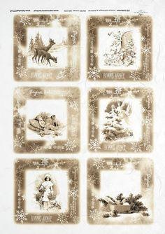 Ryžový papier - R 0239 Vianoce