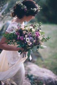 decoración de bodas rusticas ramo de novia