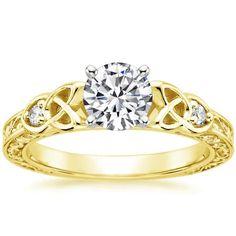 Aberdeen Diamond Engagement Ring - 18K Yellow Gold