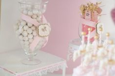 Candy + Sweets from a Pink Carousel Birthday Party via Kara's Party Ideas! KarasPartyIdeas.com (16)
