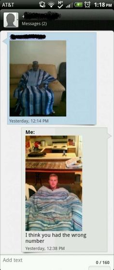 The best answers when someone sent you a text message and had the wrong number…