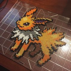 Jolteon (135) Pokemon perler beads by Nick Galilei