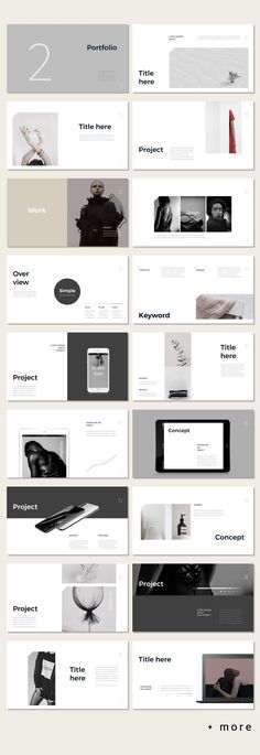 Awesome Simple Portfolio Presentation Template #minimal #presentation #ppt #template #portfolio #marketing