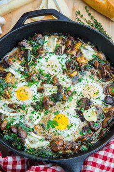 Mushroom and Brie Baked Eggs