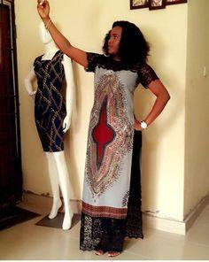 Dashiki gown, trending style, Lastest African fashion, Nigeria fashion, African fabric