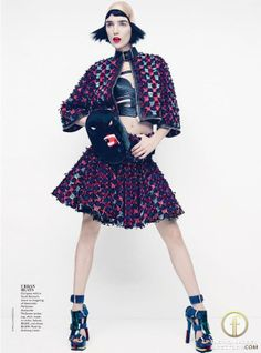 Janice Alida featured in the                     Vogue Australia editorial