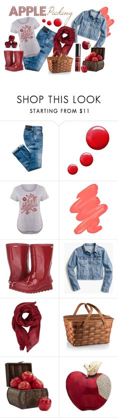 """""""APPLE PICKING"""" by celine-diaz-1 on Polyvore featuring mode, Topshop, LC Trendz, Obsessive Compulsive Cosmetics, SOREL, J.Crew, Gucci, Nearly Natural, Anne Klein et NYX"""
