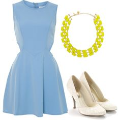 Clear Blue, created by spanwayhits on Polyvore