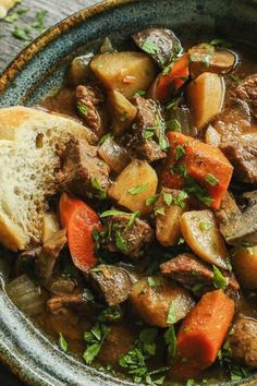 Slow Cooker Hungarian Goulash is a humble stew loaded with chunks of tender, melt-in-your-mouth beef and vegetables. A rich, beefy broth flavored with sweet paprika makes this a true comfort meal. Slow Cooker Recipes, Crockpot Recipes, Cooking Recipes, Healthy Recipes, Easy Goulash Recipes, Yummy Recipes, Cooking Tips, Dinner Recipes, Bratwurst