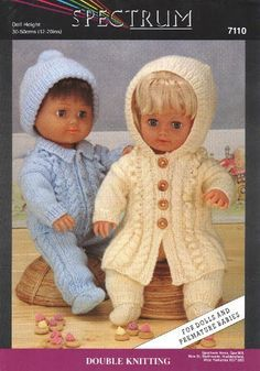 Ideas Crochet Baby Doll Pattern Free American Girls For 2019 Knitted Doll Patterns, Doll Patterns Free, Doll Dress Patterns, Knitted Dolls, Clothing Patterns, Pattern Ideas, Free Pattern, Knitting Patterns, Baby Born Clothes