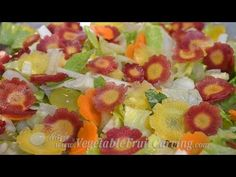 How to Make Easy Carrot Flowers, Video lesson shows 3 ways Candied Carrots, Carrot Flowers, Vegetable Carving, Fruits And Vegetables, Fruit Salad, Make It Simple, Decorating, Easy, Youtube
