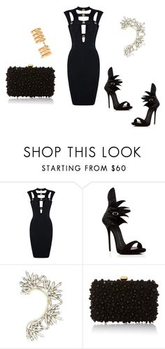 """Untitled #47"" by ivanov1234491 ❤ liked on Polyvore featuring Giuseppe Zanotti, BCBGMAXAZRIA, Elie Saab and Repossi"
