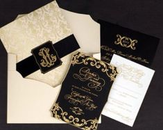 The Great Gatsby Invitation Card, RSVP Card, Reception Card, Save The Date Card, Menu Card