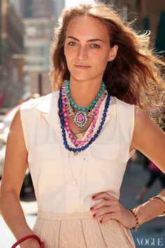 How to Stack Jewelry — Grace Fuller, Necklaces — Vogue.com