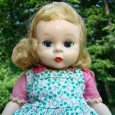 C1953 Alexander-kins Doll Strung Pink Pinafore Dress Madame Alexander by AmericanBeautyDolls on Etsy