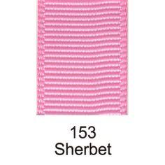 153 - Sherbet Grosgrain Plain Ribbon