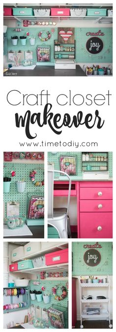 Love the colors and the fun of this craft closet DIY makeover. Great ideas and … .Love the colors and the fun of this craft closet DIY makeover. Great ideas and … .Love the colors and the fun of this craft closet DIY makeover. Great ideas and … ,