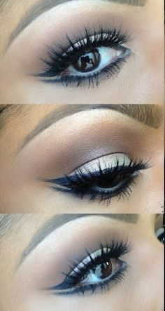 Cute double winged eyeliner