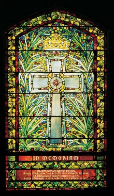 Tiffany Studios, Almy Townsend Hicks, Charlotte Brevoort Hicks memorial window, before 1900
