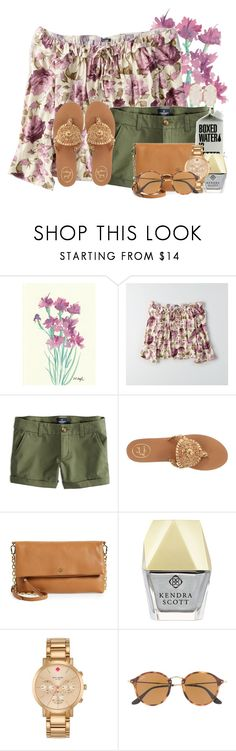 """""""25 question tag in the description """" by flroasburn ❤ liked on Polyvore featuring American Eagle Outfitters, Jack Rogers, Tory Burch, Kendra Scott, Kate Spade, Ray-Ban, bedroom and bathroom"""