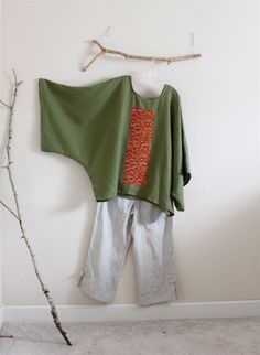 over sized cedar linen top with vintage by annyschooecoclothing