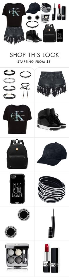 """Untitled #61"" by tuta-alisia ❤ liked on Polyvore featuring Sans Souci, Calvin Klein Jeans, MICHAEL Michael Kors, Casetify, Marc Jacobs, MAC Cosmetics, Chanel and Christian Dior"