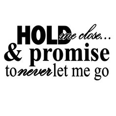 Hold Me Close and Never Let Me Go Die-Cut Decal Car Window Wall Bumper Phone Laptop