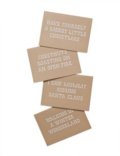 Have yourself a merry little Christmas (BROWN PAPER)