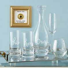 just add mimosas… {glassware found on zola wedding registry}