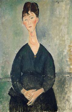 "Amedeo Modigliani (1884-1920), ""Café Singer"" - National Gallery of Art ~ Washington, DC, USA"