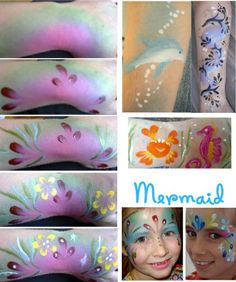 How to face paint a mermaid and under the sea themed ideas
