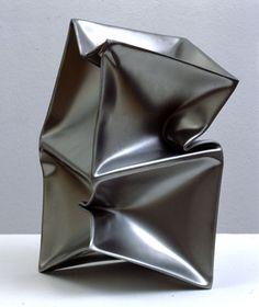Ewredt Hilgemann. Siamese Implosion N 7793 (stainless steel; 50 x 25 x 25 cm). 2003