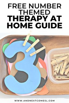 Free Number Themed Therapy at Home Activity Guide