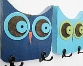 wood owl: something my husband could cut out and I could paint!