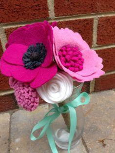 Felt Flower Bouquet: custom mix by PromisePetals on Etsy