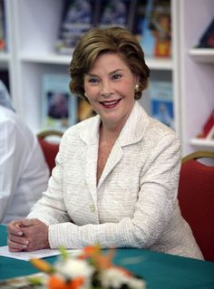 Laura Welch Bush  ♡  2001 - 2009  ♡  During her eight years in the White House, Mrs. Laura Bush was a champion of President Bush's ambitious agenda and a gracious representative of the American people. A former teacher and librarian, she has dedicated herself to advancing education and promoting the well-being of women and families worldwide.