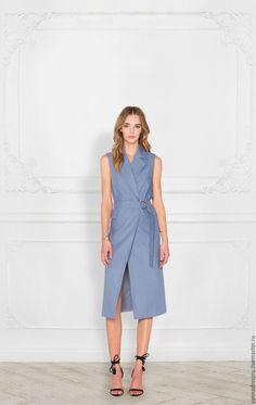 """Купить Платье на запах """"Рure Сotton Dress"""" - однотонный, платье летнее, платье, платье коктейльное"""