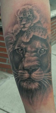 lion tattoo memorial tattoos lion art father and son daughter tattoos ...
